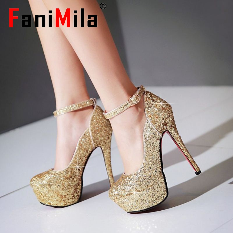 women high heel shoes platform sexy spring paillette quality footwear fashion heeled 13.5cm pumps heels shoes size 32-43 P22828<br><br>Aliexpress