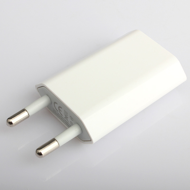 USB Wall Power Charger Adapter EU Plug For Apple iPod iPhone 3G 4G 4S White AO#P