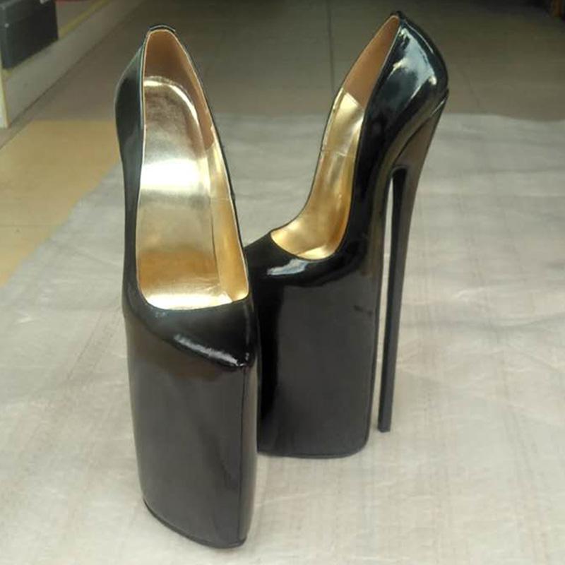 new design full grain leather pump extreme high heel 30cm. Black Bedroom Furniture Sets. Home Design Ideas