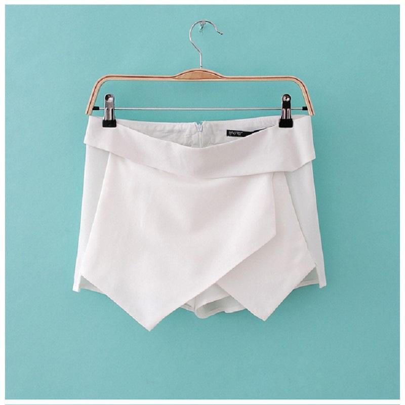 2015 New 4 Colors Womens Skirts female Tiered Shorts Irregular Zipper Trousers Culottes Short Skirt XS-XL Plus Size(China (Mainland))