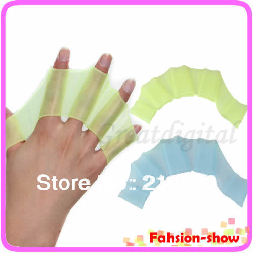 Y92 Hot Sale! Soft Silicone Swimming Fins Hand Webbed Flippers Swim Gear Training Gloves S M L(China (Mainland))
