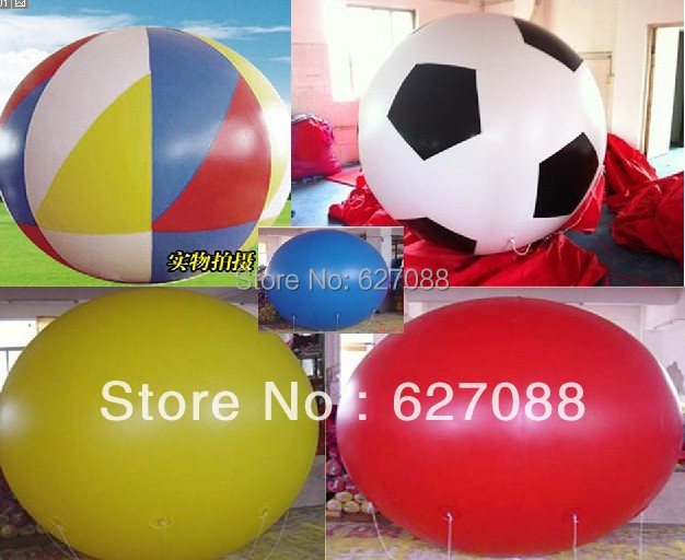 ON SALE Hot 6.5FT/2m Diameter Advertising Helium White Balloon for Events/FREE Shipping bauble(China (Mainland))