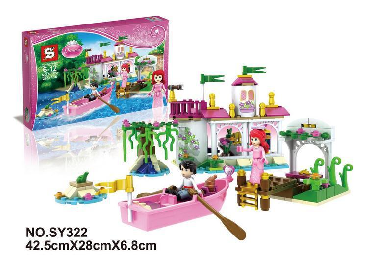 Sy322 amis série princesse Ariel de baiser magique blocs de construction figurines enfants jouets éducatifs Compatible avec LEGO 41052(China (Mainland))