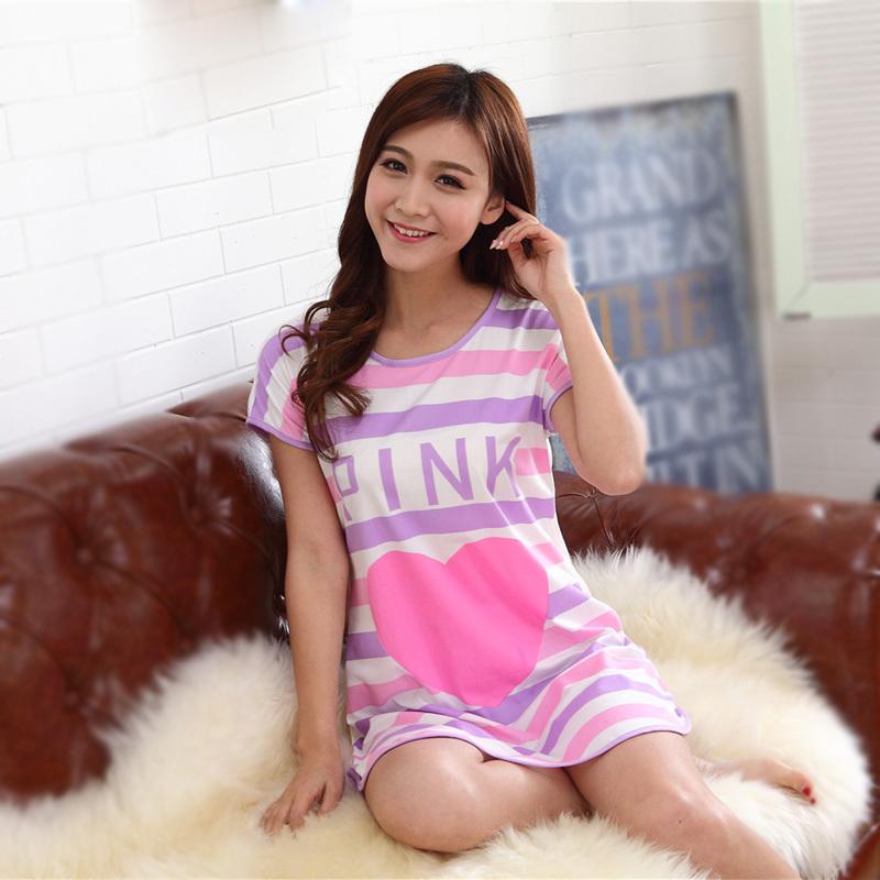 New 2015 Women Nightgowns Cute Loose pijama women pajamas girl's underwear nightdress sleep lounge women nightwear G1163