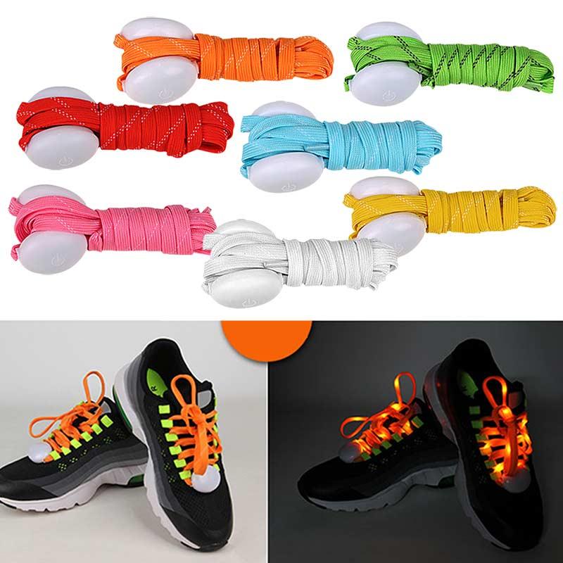 LED Shoelaces Nylon Shoe Laces Flash Light Up Glow Stick Strap Shoelaces Disco Party Shoes Decor BS88(China (Mainland))
