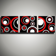 Buy 3 piece wall art canvas multi acrylic panel modern abstract black red picture oil painting home decoration living room wall for $33.07 in AliExpress store