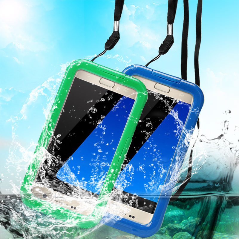IP68 Waterproof Case For Samsung Galaxy S6 S6 Edge S7 Hard PC+Clear Silicone Waterproof Shockproof Phone Cover Underwater 6M(China (Mainland))