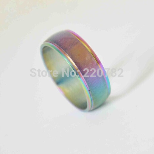 316L Stainless Steel Men and Women Rings Mood Temperature Change Emotion Feeling Color Changeable Band Ring O NEW Bague(China (Mainland))