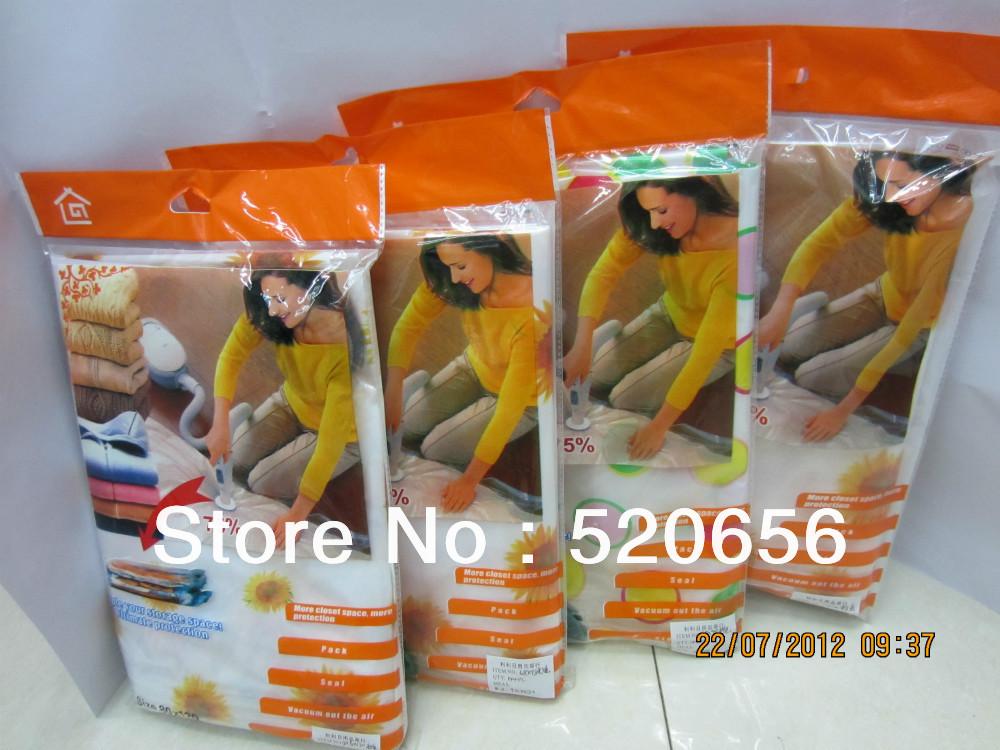 Free Shipping vacuum compression bags vacuum storage bags vacuum space saving compressed bags space saver clothes vacuum bag(China (Mainland))