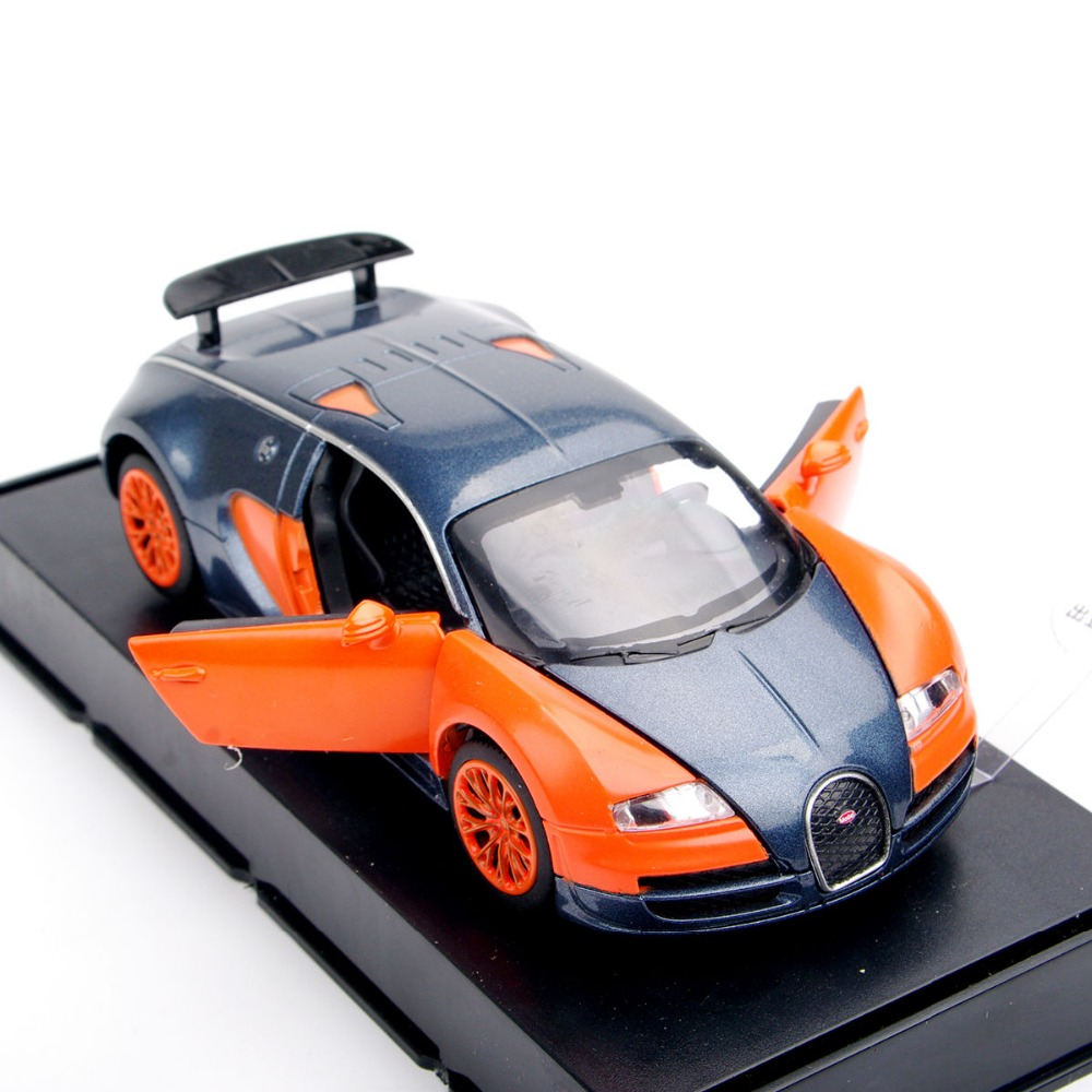1:32 Bugatti Veyron Kids Toys Cars Model Orange Alloy Diecast Car Model Pull Back Car Miniatures Toys Vehicle For Kids Gift A(China (Mainland))