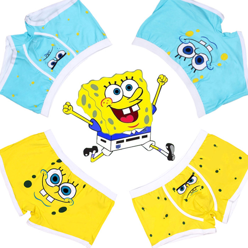 Free Shipping low waist sexy men underwear man boxer shorts cotton high quality cartoon superman spongebob south park stitch lot(China (Mainland))