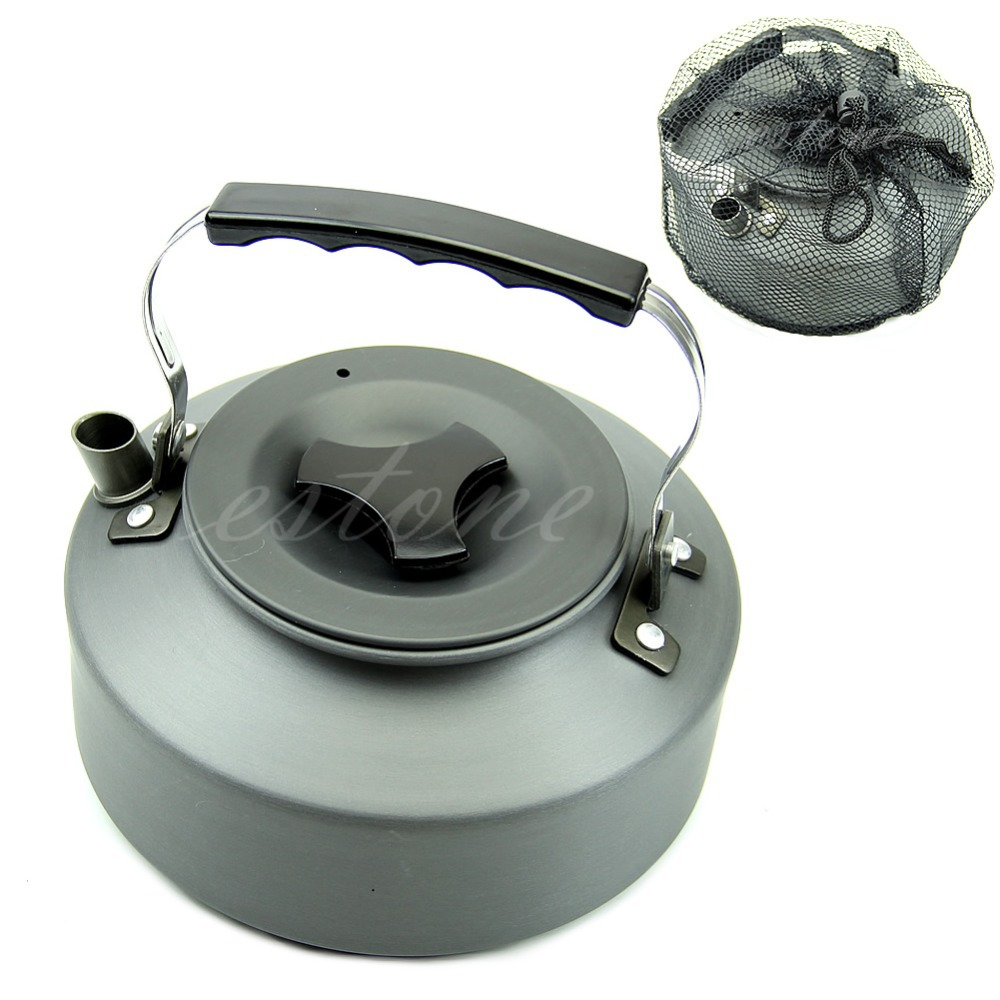 Free Shipping 1.1L Portable Outdoor Camping Survival Coffee Pot Water Kettle Teapot Aluminum(China (Mainland))