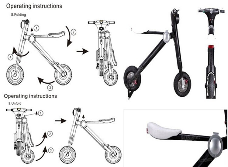 Electric folding scooter AT-185-6