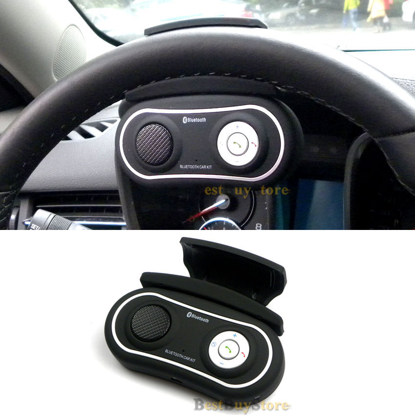 2016 New Arrival Universal Multipoint Steering Wheel Handsfree Bluetooth Car Kit Speakerphone with Speaker, works with 2 mobiles(China (Mainland))