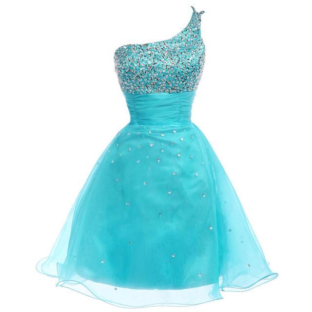 Грейс карин короткие коктейльные платья 2016 настоящее фото синий блесток одеяние ...