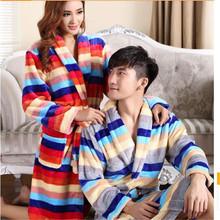 2016  Autumn Winter Latest Fashion Couples Robe Thicken Warm Flannel Robe Leisure Slim Big yards Coral fleece Couples Robe Q0597(China (Mainland))