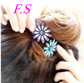 New Fashion Girls' Hair Accessories Sunflower Daisy Elastic Hair Bands Wholesale(China (Mainland))