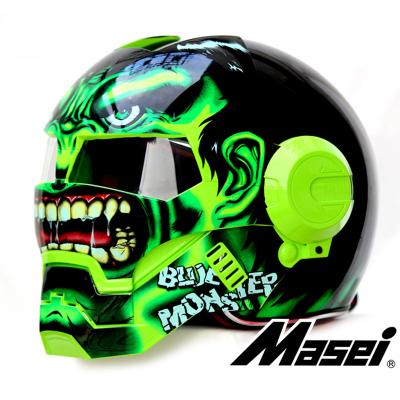 Masei 610 ironman motorcycle helmet Masei skull helm The Avengers Iron Man moto helmet ECE Authenticate motocross helmet(China (Mainland))