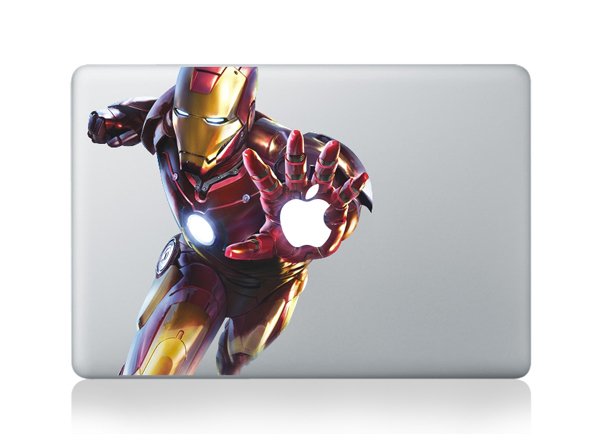 laptop sticker Iron Man Decal for MacBook Stickers Decals Decal Protective Laptop Stickers for Apple 13 11 15 inch(China (Mainland))