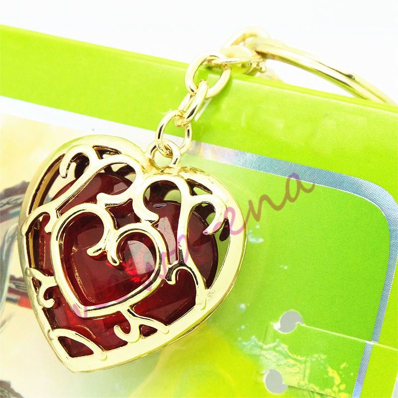 2016 Legend Zelda Skyward Sword Heart Container Keychain Cosplay Keyring jewelry Collection Gift Red Unisex - Guangzhou Shangji Network Technology Co., Ltd. store
