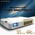 LED Portable Projector 2000LM Mini HDMI Projector Business Home Media Player 4K HD Intelligent Multimedia Projector