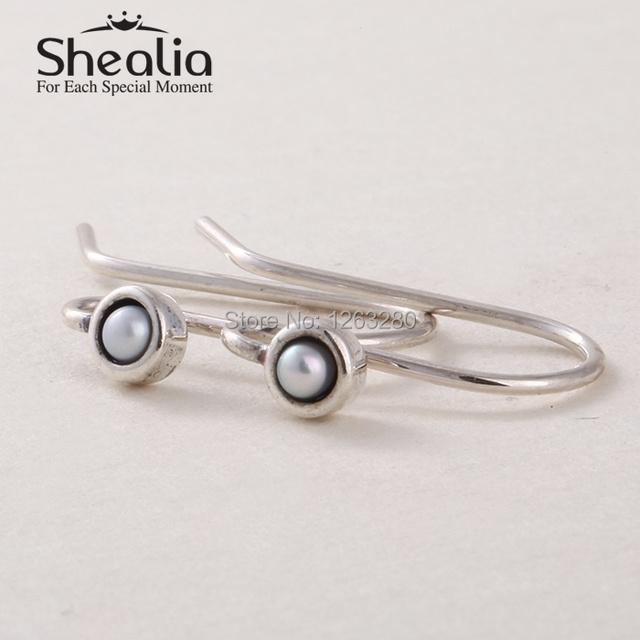 Shealia ювелирные изделия стерлингового серебра 925 жемчужные серьги крючки женщины серьги DIY аксессуары европейский ювелирных украшений EAR009