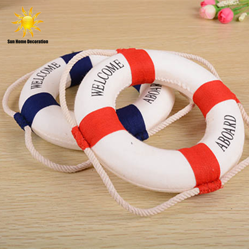 Foam Home Decor Nautical Decorative Lifebuoy Life Ring Wall Hanging Showcase Holiday decorations Crafts free shipping(China (Mainland))