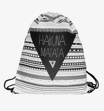 Zohra 3D Printing Fashion New Backpack women Geometric triangle pattern Drawstring bag Travel bag mochila feminina backpacks(China (Mainland))