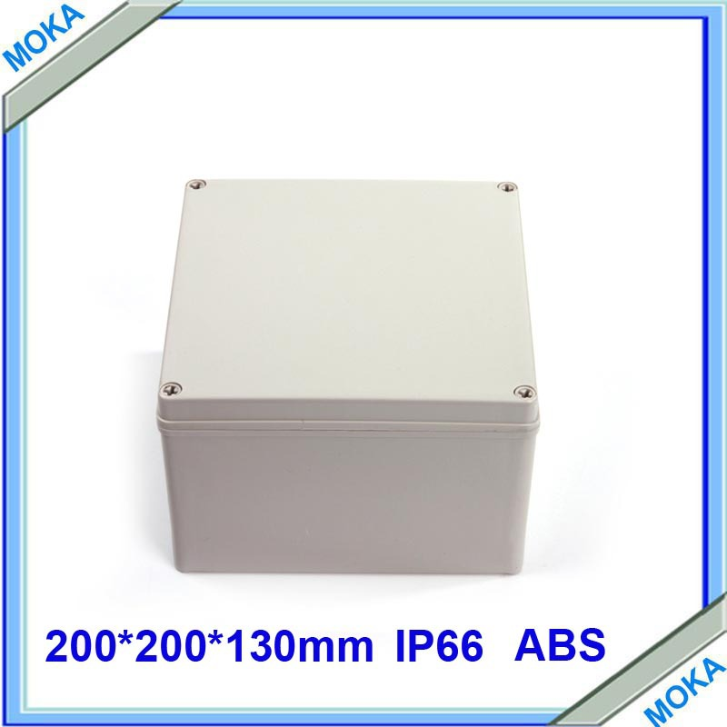 Free Shipping Factory Supply Plastic Instrument Box Electronic ABS Plastic Enclosure Junction Box 200*200*130mm<br><br>Aliexpress