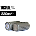 500 Flashlight LED Batteries 16340 3 7V 880mah Battery Rechargeable With Protection Board Li Ion Battery