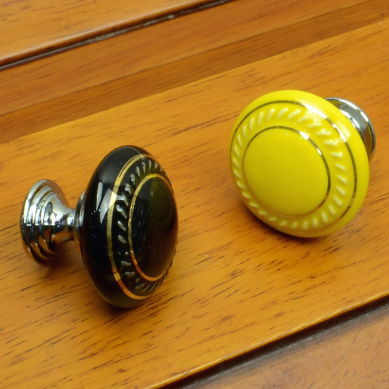 35mm Ceramic Cabinet Porcelain Knobs And Handles Kitchen Dresser Drawer Pulls