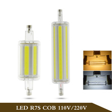 Buy Dimmable COB r7s led 30W 118mm 360 degree 15W 78mm 85-265V lampadas led r7s bulb replace halogen lamp 25mm diameter for $1.43 in AliExpress store