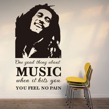 Buy Q031 New Bob Marley Wall Sticker Decals Removable Livingroom Bedroom Decoration Free for $5.18 in AliExpress store