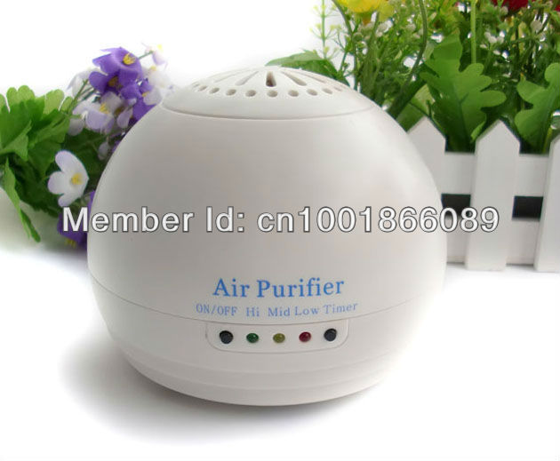 Portable Mini White Auto Car home Fresh Air negative Ionic Purifier Oxygen Bar Ozone Ionizer Cleaner 10pcs/lot wholesale(China (Mainland))
