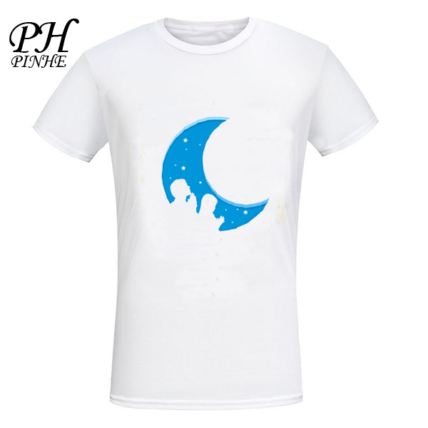 PinHe 2016 New Brand Summer Clothing Children in prayer Pattern Printed short Sleeve T shirt Man Harajuku customize top Tees(China (Mainland))