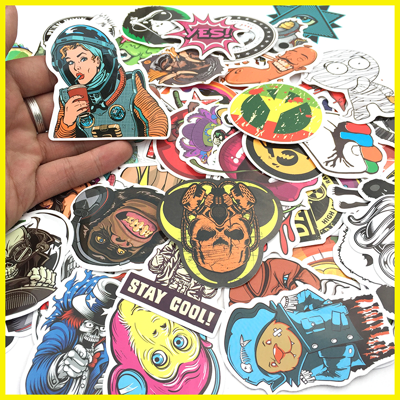High Quality Car Styling sticker bomb skateboard stickers Doodle Graffiti Snowboard bike motorcycle accessories luggage bags()