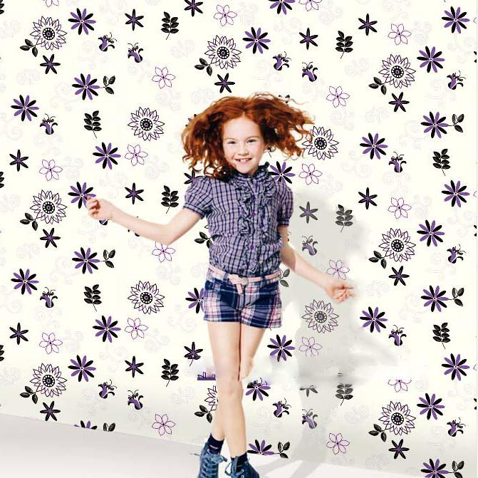 Aliexpress.com: Comprar Moderno novedad Kids Wallpaper lunares ...
