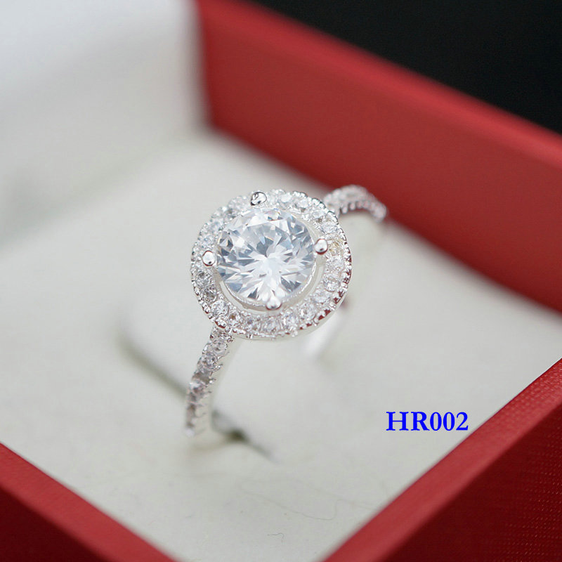 2.5 Carat 925 Sterling Silver Rings CZ Diamond Women Wedding Engagement Brand Crystal Jewelry anel aneis HR002 - miss liao's store