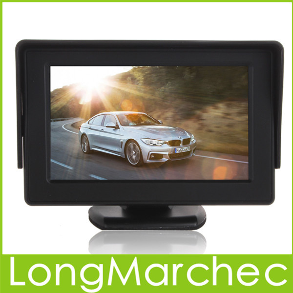 Sale 10PCS 4.3 Inch Color TFT LCD Car Monitor 480x272 Digital Panel With 2Ch Video Input For Rear View Camera Or DVD GPS(China (Mainland))