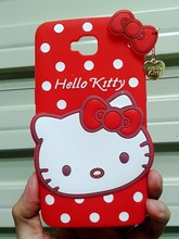 Cute Cartoon 3D Hello Kitty KT Cat Soft Rubber Silicone Back Cover Case Alcatel One Touch POP C7 OT 7041D 7040D - Made In China Centre store