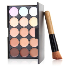 1set Professional Cosmetic 15 Colors contour Palette Face Cream Makeup Concealer Palette Set Tools Powder Brush Hot Selling New(China (Mainland))