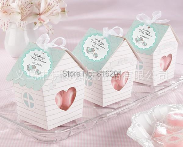 50pcs Mini Love Nest Bird House Baby Shower Candy Box