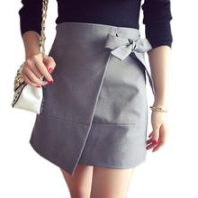 Buy Autumn Winter 2017 Fashion Women sexy mini skirt female Asymmetric skirts High Waist Slim Vintage Package hip Step work OL skirt for $12.74 in AliExpress store