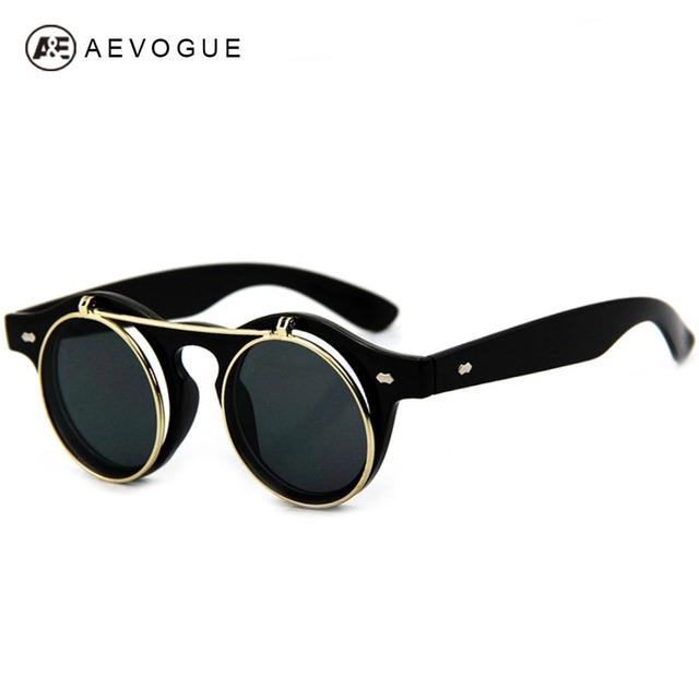 Розничная AEVOGUE старинные дизайнерские солнцезащитные очки женщин флип отражение объектив солнцезащитные очки gafas óculos де золь UV400 DT0255
