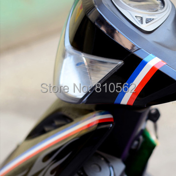 Wholesale 1cm 5m Motorcycle Reflective Tape Stickers Car Styling More Position can used for LADA Granta