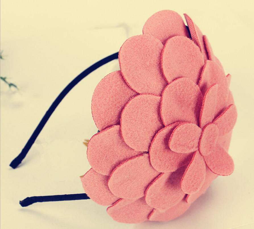 1 PCS Fashion Women Girls Hair Accessory Big Flower Hair Band Cotton Hoop Headband Lady Gift