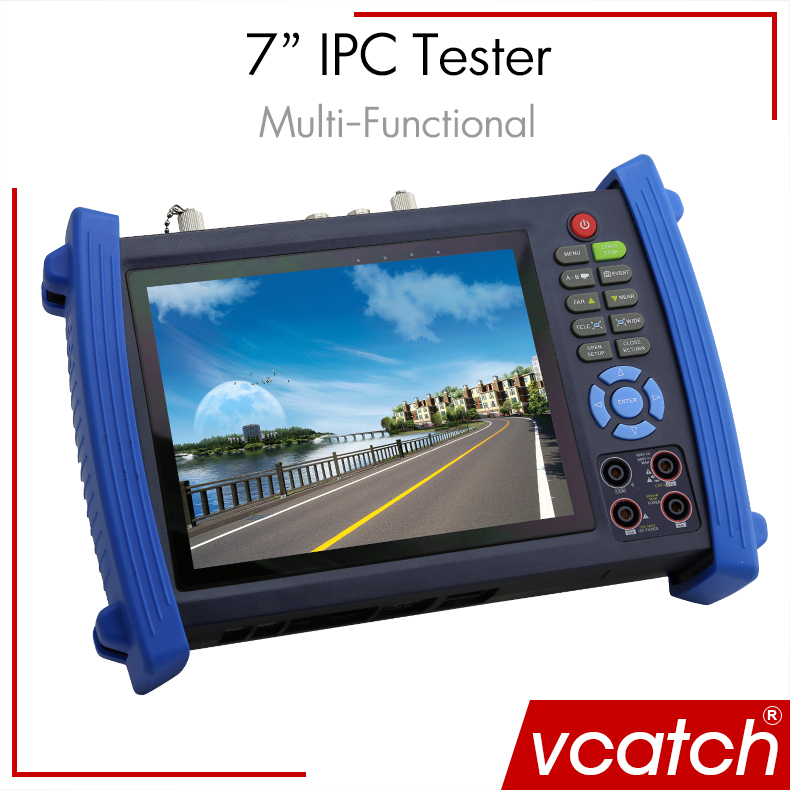 Vcatch CCTV Tester with 7 inch Touch Screen Multifunction IP Camera CCTV Tester With Multi-meter, Video Record, Cable Scan(China (Mainland))