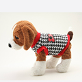Small Pet Dog Clothes Pullover Coat Tops Plaid Toy Dog Jacket Puppy Coat Clothing Outwear Hoodie