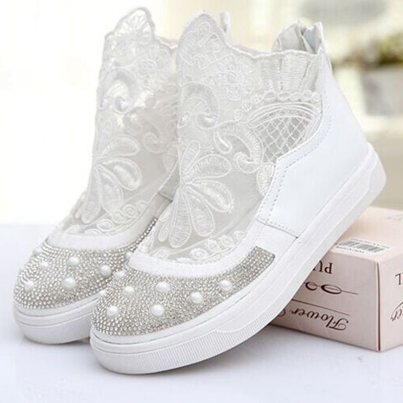 Princess Girls Lace Flower Children Wedding Shoes Zapatillas Ninas Crystal School Kids Shoes For Girl Children Sneaker TX216(China (Mainland))