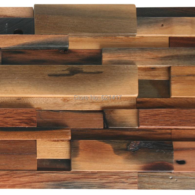 natural ship wood 3d ancient old boat wooden mosaic tiles wall decoration materials HMWM1021 for backsplash kitchen wall(China (Mainland))